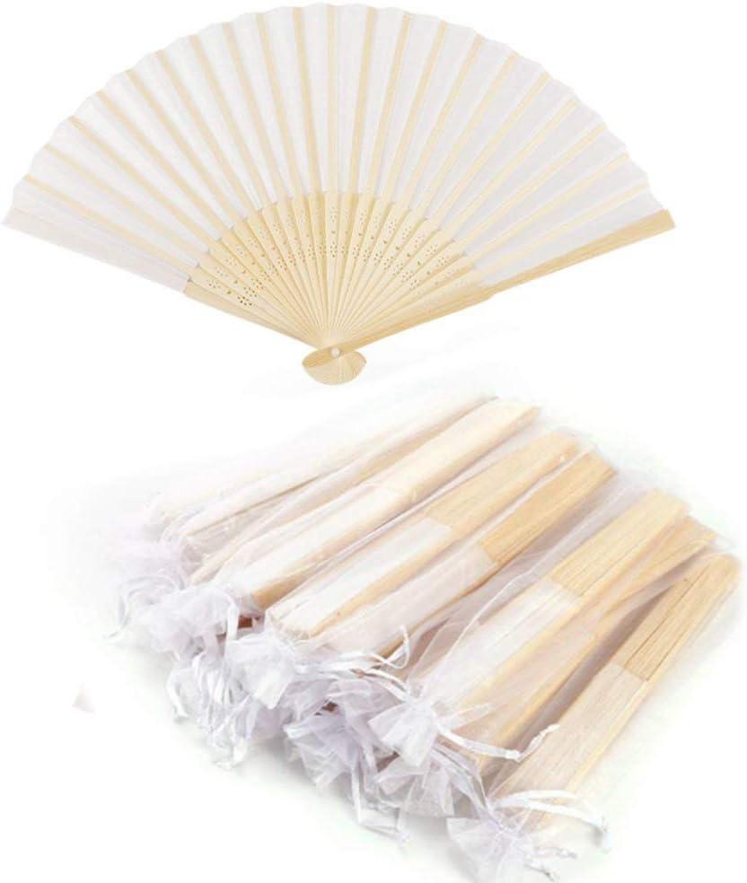 10x Handfächer Taschenfächer Stofffächer Holz Fächer Kostüme Deko Geschenk DHL