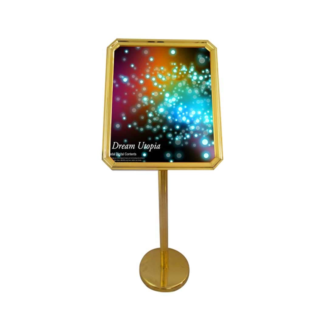 A2\A3 Poster Stand Adjustable Stainless Steel Replaceable Advertising Rack Sign Stand (Size : A)