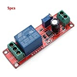 5pcs Delay Timer Switch Adjustable 0-10sec With NE555 Electrical Input 12V 10A - Arduino Compatible SCM & DIY Kits
