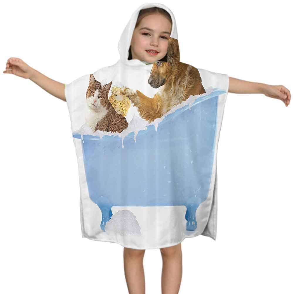 Large Bath Towels Cute Baby Sloth Hooded Towel for Girls Boys 2-6 Years Bath Beach Pool Shower