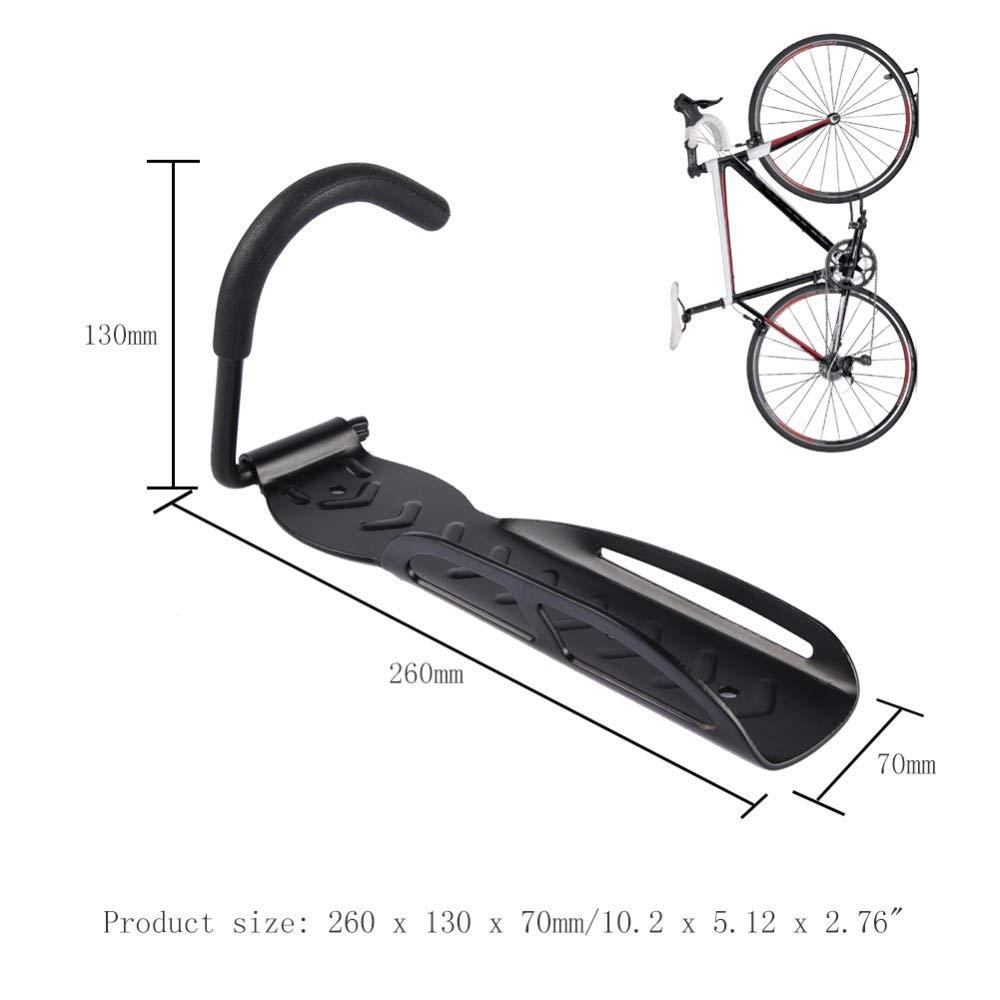 Stylrtop Bike Bicycle Wall Hanger,Garage Hook for Indoor Bike Storage,Max Weight Capacity 30kg\66lb