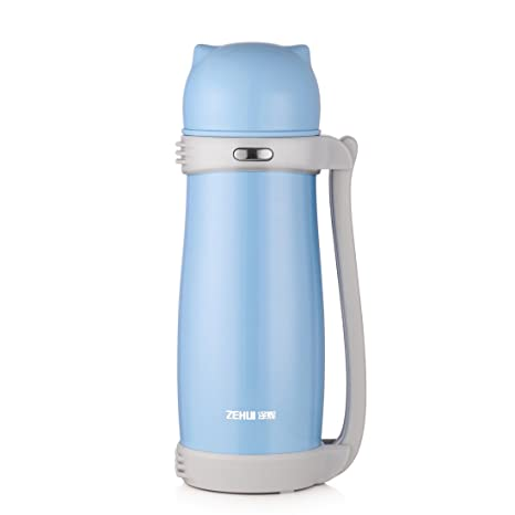 Botella de agua térmica al vacío, 1000 ml, 24 horas, acero ...