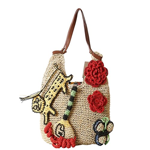 YOUJIA Mujeres Bolsos De Totalizadores Ocasional Bolso De Mano Totes Para Shopper / Viajar #2 Beige