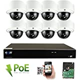 GW Security 8CH 4K NVR Network 5MP IP Security Camera System - 8 x HD 1920P 5.0 Megapixel 2.8~12mm Varifocal Zoom PoE IP Dome Camera + 4TB Hard Drive - Support ONVIF Quick QR Code Remote Access
