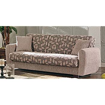 Amazon Com Beyan Chestnut 2016 Collection Convertible Sofa Bed With