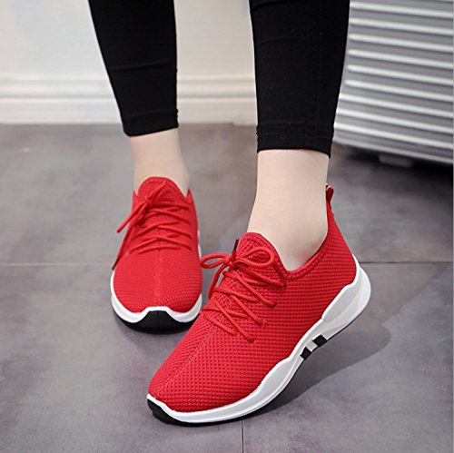 Fashion Black Sport Portable 44 Mesh Red Shoes Sport Unisex Sport Walking Red Shoes amp; Casual Shoes Sneakers Shoes Running Outdoors Huaishu Athletic Sports Breathable Comfortable 36 Cn5UPqPH