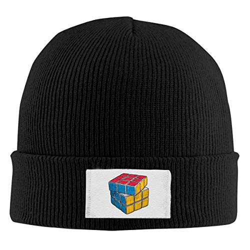 Unisex Elastic Knitted Beanie Cap Abstract Magic Cube Winter Outdoor Warm Skull Hats ()