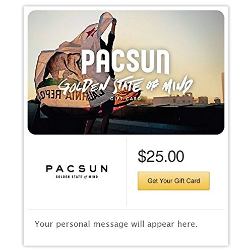Pacific Sunwear Flag Gift Cards - E-mail - Gift Cards Online Men For