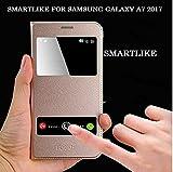 Samsung Galaxy A7 (2017) SmartLike SENSOR FLIP Luxury PU Leather Smart Flip Cover For Samsung Galaxy A7 (2017) A720F GOLD