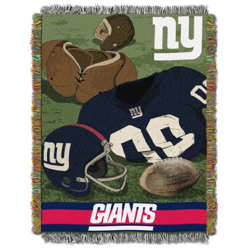 The Northwest Company Officially Licensed NFL New York Giants Vintage Woven Tapestry Throw Blanket, 48