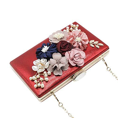 Blue Handbag Clutches Bags Sequins Royal Red Pearl Envelope Purses Evening Women Cckuu Flower qCPBS