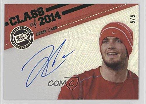 Derek Carr #5/5 (Football Card) 2014 Press Pass Showbound - Class of 2014 - Green - C14 Green