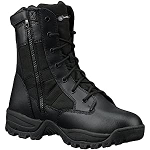 Smith & Wesson Men's Breach 2.0 Tactical Waterproof Side Zip Boots, Black, 9.5W