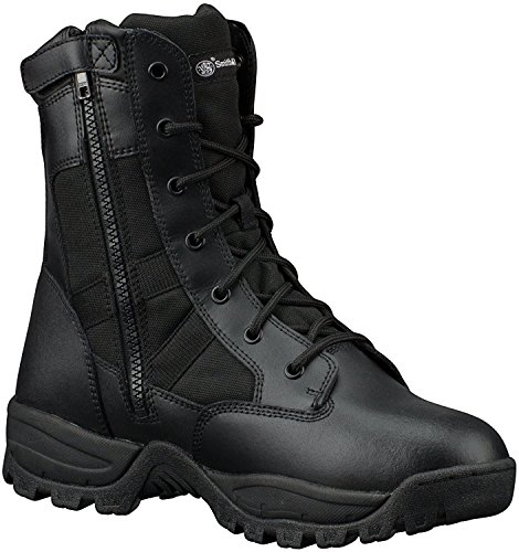 Smith & Wesson Men's Breach 2.0 Tactical Waterproof Side Zip Boots, Black, 11.5W