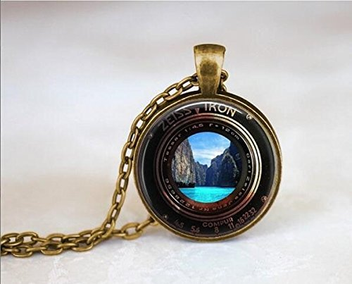 ZEISS IKON Camera Lense Photocopy Necklace, Waterfall, used for sale  Delivered anywhere in Canada