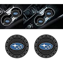 Yuanxi Electronics 2 Pcs 2.75 inch Car Interior Accessories Anti Slip Cup Mat for Subaru All Models