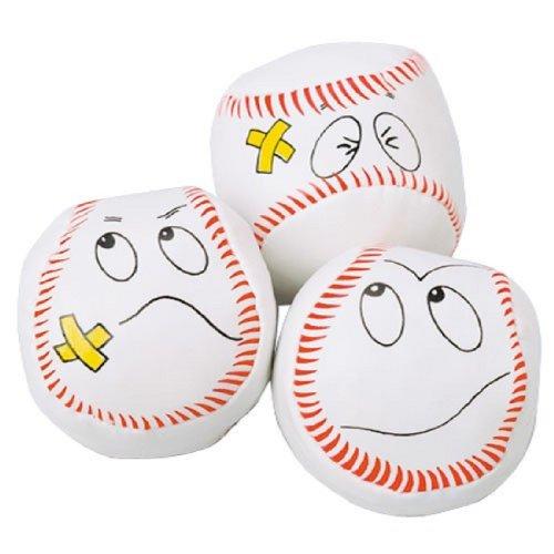 Dozen Baseball Funny Face Kick Balls Hackie Sacks