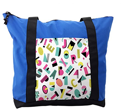 Lunarable ABC Kids Shoulder Bag, Groovy Fashion Alphabet, Durable with Zipper by Lunarable