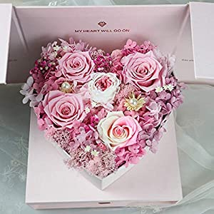 Warm Homes Natural Preserved Rose Flowers in Gift Box, Pink Artificial Forever Roses Design with Pull Out Drawer - Gifts for Her 15