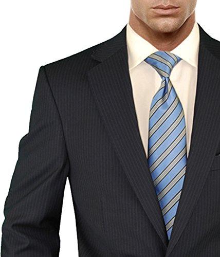 Salvatore Exte Men's Suit Modern Two Button 2 piece Striped (40 Regular, Dark Navy) by Salvatore Exte (Image #4)