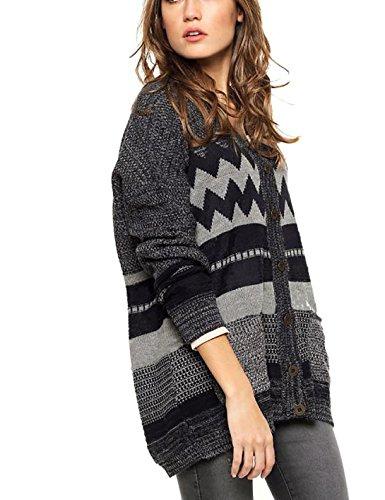 100% Baby Alpaca Cardigan Sweater, Mix Gray, Thermo, Organic, Eco-Friendly