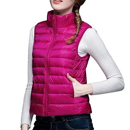 Vtements en Rose Femme Ultralger sans Outerwear Debout Mode Courte Slim Manteau Fit Manches Elgante Duvet Vest Uni Manche Col Gilet Femme Gilet Doudoune Loisir PdwXgEqqx