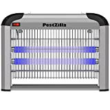 PestZilla Robust UV Electronic Bug Zapper Fly Zapper Killer Trap Pest Control- Protects Up to 6,000 Sq. Feet/for Indoor Use - Kills Flies, Mosquitoes, Insects, Etc - Enjoy an Insect Free Environment
