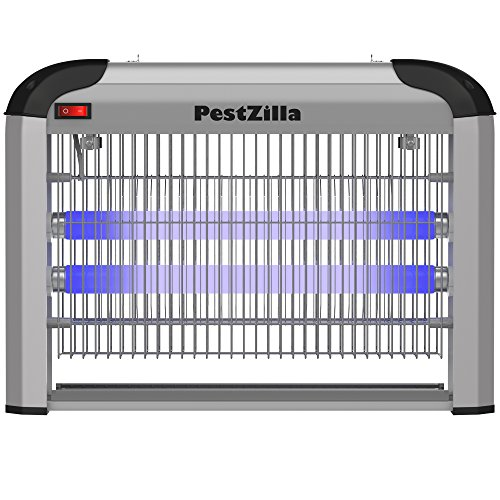 PestZilla Robust UV Electronic Bug Zapper Fly Zapper Killer Trap Pest Control– Protects Up to 6,000 Sq. Feet / For Indoor Use – Kills Flies, Mosquitoes, Insects, Etc – Enjoy an Insect Free Environment by PestZilla