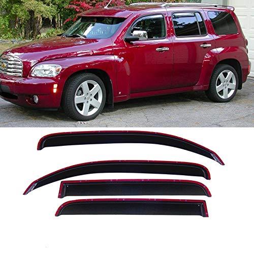 Deebior 4pcs Sun Rain Wind Guard Window Visor Shade Vent Deflectors for 2006-2011 Chevrolet HHR Only Tape-On Style Chevrolet Hhr Vent Visor