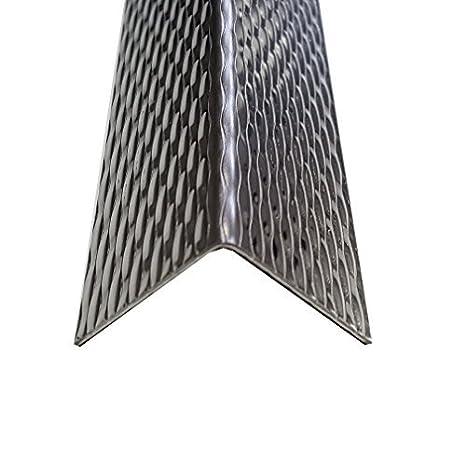 2000x30x30mm dekorativer chutzleiste 1 mm stark Edelstahl Raute Kantenschutz Winkel 200x3x3cm