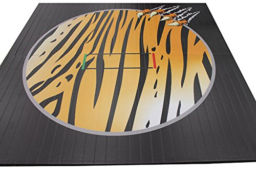 Wrestling Mat - Liteweight - DigiPrint, 10'x10' (Two 5'x10' Pieces), Bengal Pattern with Claw, Tape Connection by Resilite