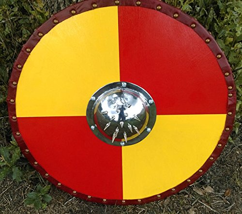 Viking Shield with Spiked Shield Boss 24'' by NAUTICALMART