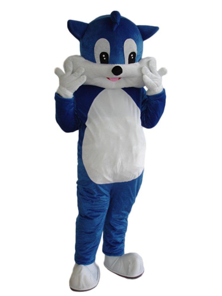 DREAM--STORE Taille adulte Costume Chat Bleu Dessin animé Halloween Costume