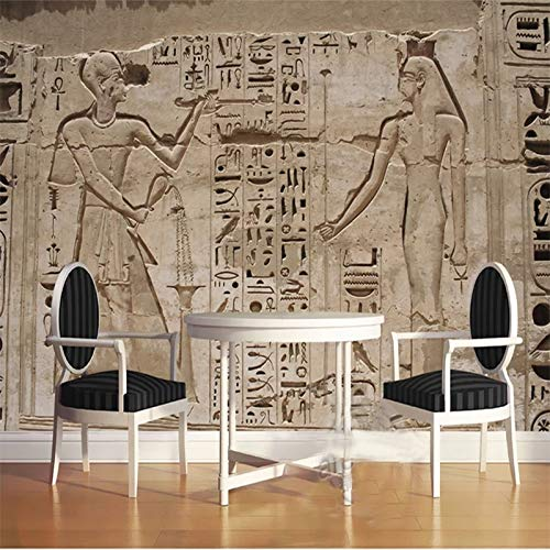 - Custom Photo Wallpaper 3D Ancient Egypt Pharaoh Stone Carving Living Room Bedroom Home Wall 3D Non-Woven Waterproof Mural Roll Cchpfcc-150X120CM
