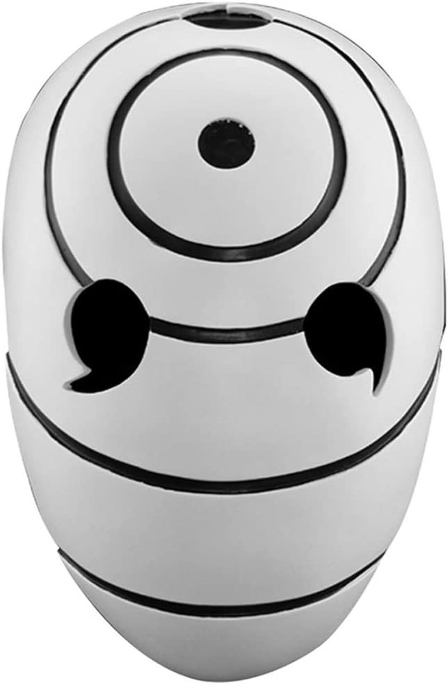 WLXW Máscara de Resina de Halloween Máscara de Mascarada Coleccionista Fiesta de Adultos Accesorios de Cosplay Resina Tobi Obito Naruto Uchiha (Máscara Uchiha)
