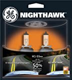 GE Lighting H1-55NH/BP2 Nighthawk Automotive Replacement Bulb, 2-Pack