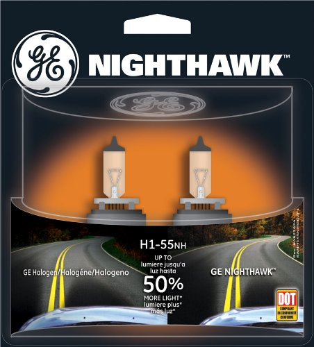(GE Lighting H1-55NH/BP2 Nighthawk Automotive Replacement Bulb, 2-Pack)