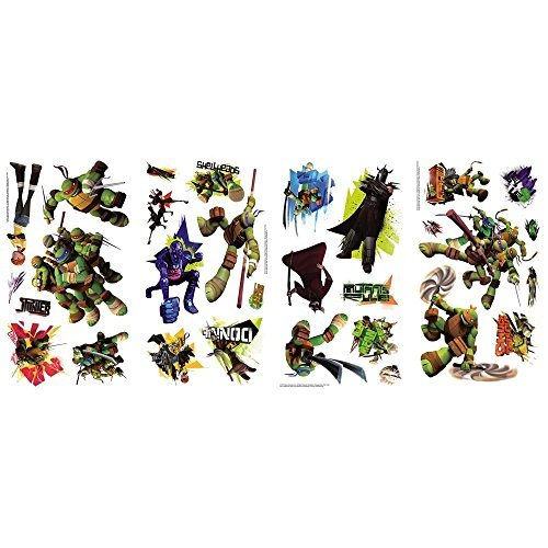 Teenage Mutant Ninja Turtles Wall Decals Kids Bedroom Stickers Room Decor -
