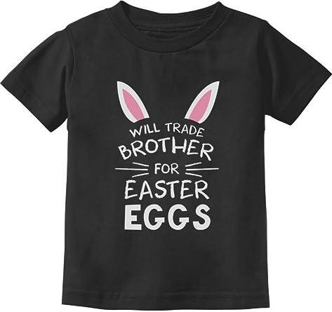 Tstars Trade Sister for Easter Eggs Funny Siblings Easter Gift Toddler//Kids Sweatshirts