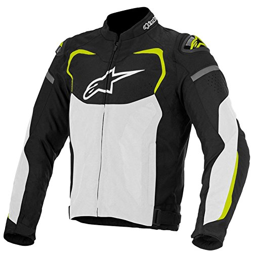 Alpinestars T-GP Pro Air Mens Textile Motorcycle Jackets - Black/White/Yellow - 3X-Large