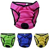 Ondoing Dog Diaper Pet Diapers Wrap Band Nursing Washable Reusable,Rose,M