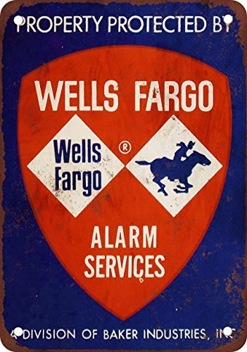 Property Protected By Wells Fargo Vintage Look Reproduction Metal Tin Sign 12X18 Inches