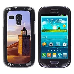 """For Samsung Galaxy S3 MINI ( NOT for regular S3 , S-type Naturaleza Lighthouse Beach"""" - Arte & diseño plástico duro Fundas Cover Cubre Hard Case Cover"""