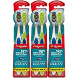 Colgate 360 Medium Toothbrush with Tongue and Cheek Cleaner, 6 Count