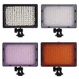 Neewer Photography 126 LED Studio Lighting Kit, including (1)CN-126 Ultra High Power Panel Digital Camera DSLR Camcorder LED Video Light (1)32\