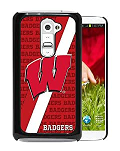 New Unique Custom Designed Case With Ncaa Big Ten Conference Football Wisconsin Badgers 7 Black For LG G2 Phone Case