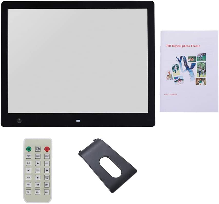 USB Port and SD Card Slot and Remote Control 16-inch Widescreen Digital Photo Frame with 16001200 IPS Display