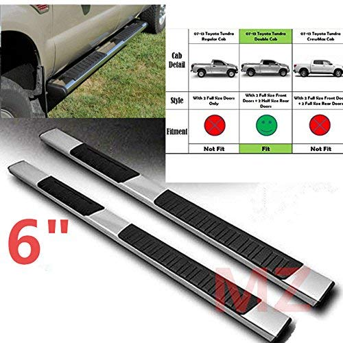 One Pair of Premium Aluminum Running Boards | Side Steps Fit for 2007-2018 Toyota Tundra Double Cab - 6