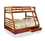 HOMES: Inside + Out IDF-BK588A Lamo Bunk Bed, Twin/Full, Oak