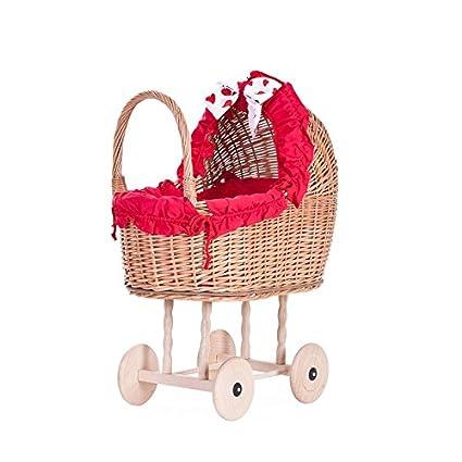 S de wicker24 520 – 50/O czerwień muñeca Carro de Mimbre, Cesta,